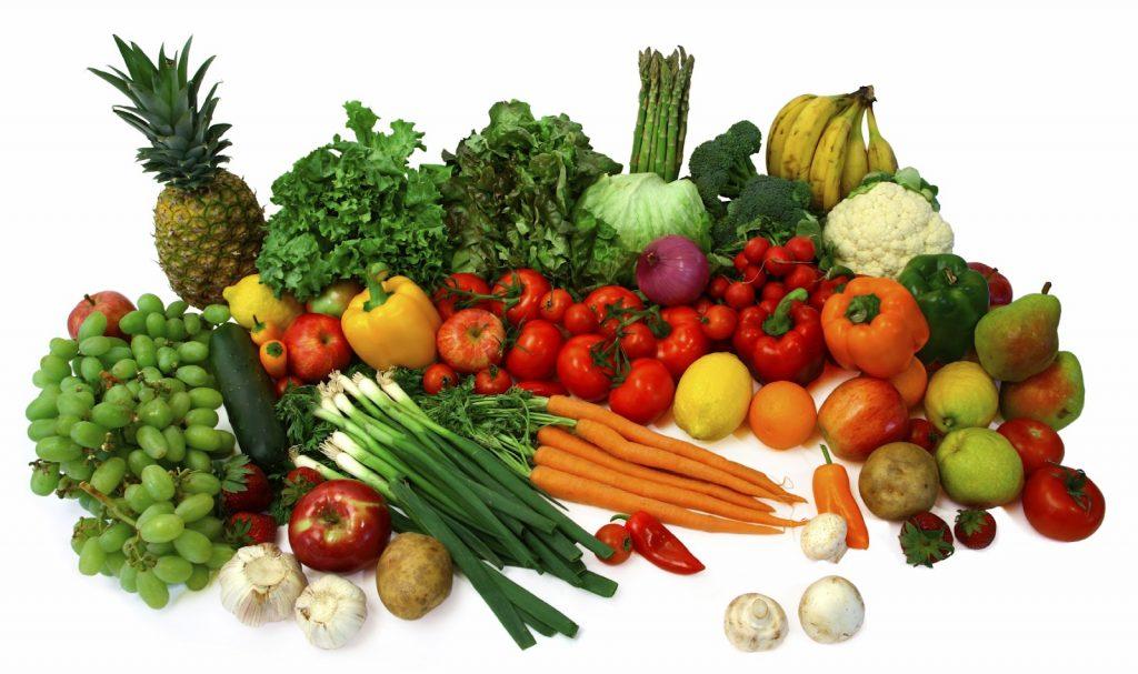 frutas y vegetales para ponerse en forma