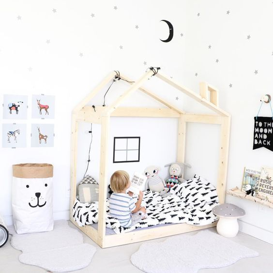 habitaciones montessori gu a ideas y propuestas. Black Bedroom Furniture Sets. Home Design Ideas