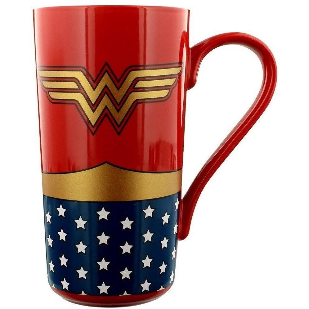 taza de cafe de wonder woman