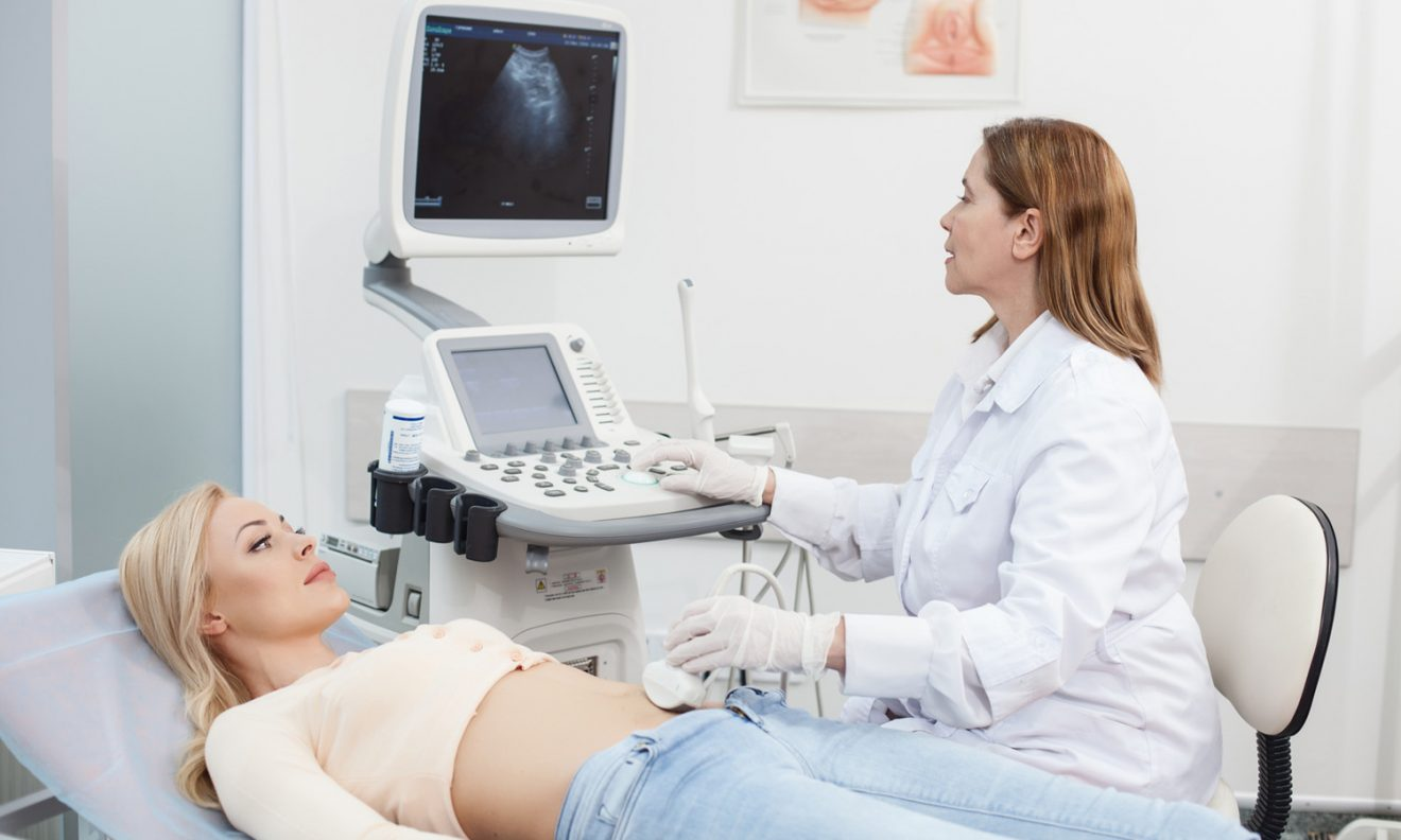Gynecological examination of the pregnant 7
