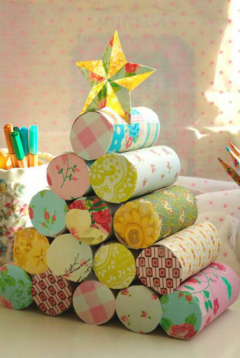 25 manualidades navide as super f ciles para hacer en casa - Manualidades con papel craft ...