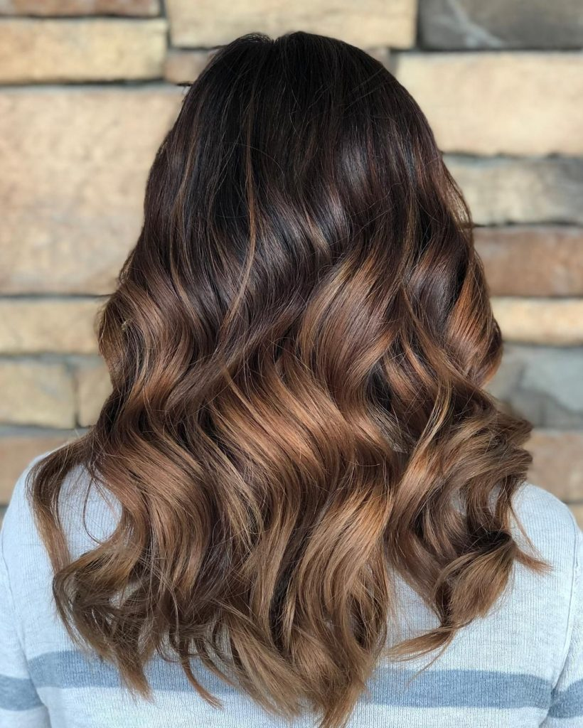 mechas balayage chocolate oscuro