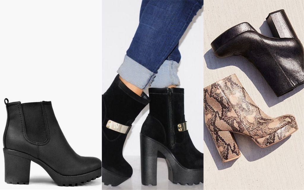 zapatos de mujer chunky boots