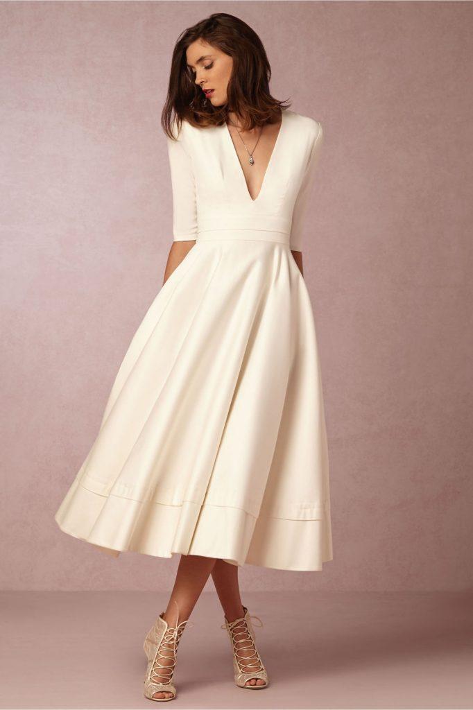 vestidos elegantes midi amplio