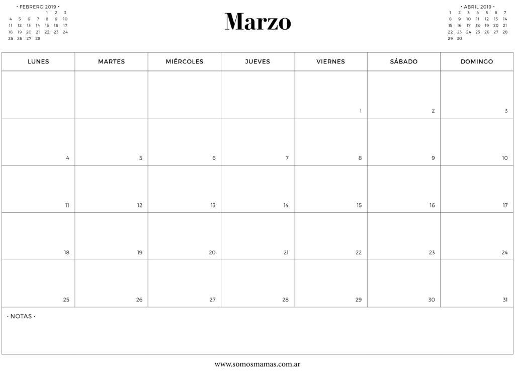 GRATIS: Calendarios 2019 Para Imprimir Y Organizar Tu Vida