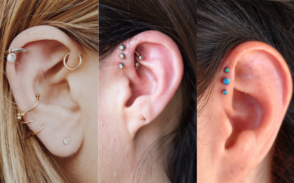 piercings en la oreja anti helix