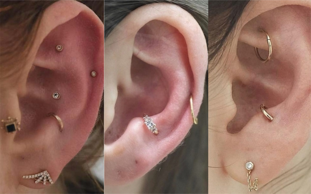 piercings en la oreja