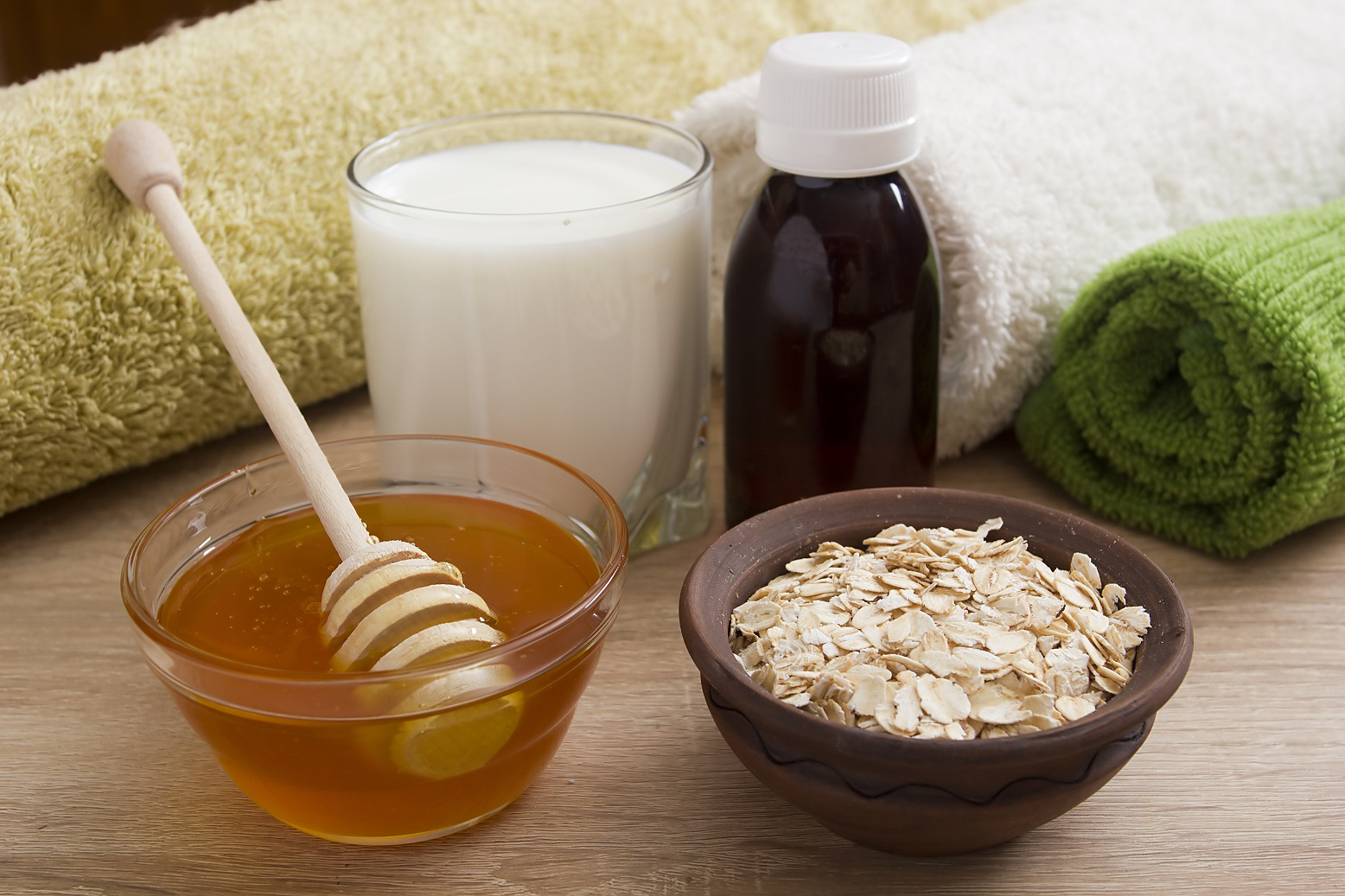 exfoliante facial casero de miel y avena